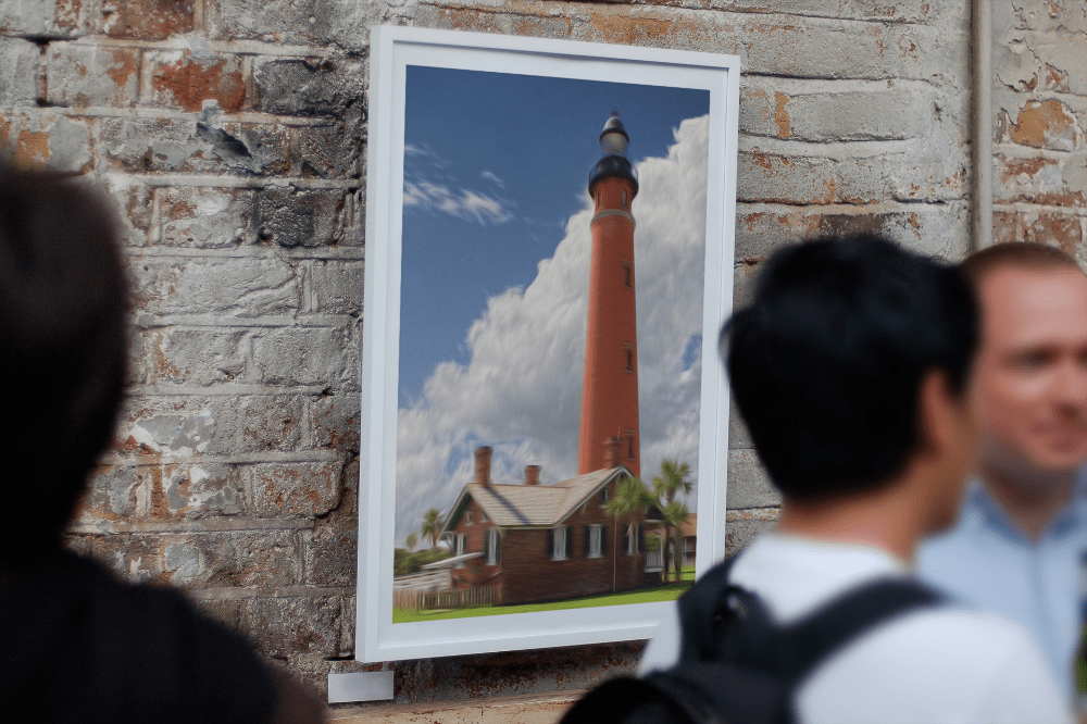 picture of Fine art mixed media painterly of Ponce de Leon Inlet Lighthouse Florida